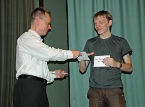 Ilya Shikshin, prizegiving ceremony, Tampere 2010